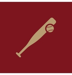 Baseball icon game symbol flat vector