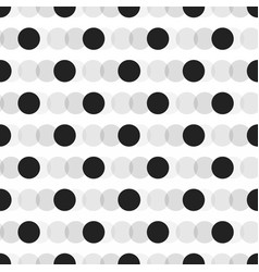 Black faded circles pattern on white background vector