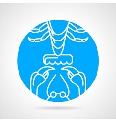 Crayfish elements round icon vector image