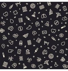 Dark seamless medical pattern vector