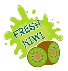 Fresh kiwi splash icon logo sticker Fruit vector image vector image