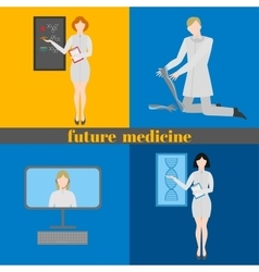 Future doctors and nurses and medical staff vector