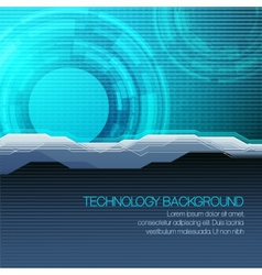 futuristic technical background vector image