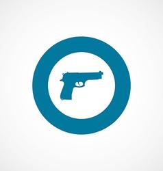 gun bold blue border circle icon vector image
