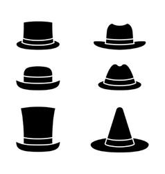 Hats icon set vector image vector image