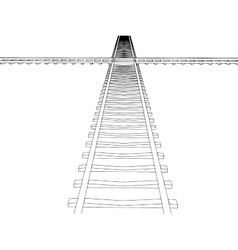 image RAILWAY TRACK vector image vector image