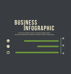 Infographic icon and graph business concept vector