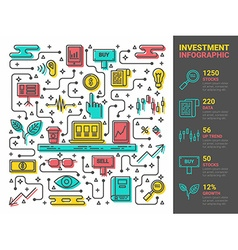 Investment Infographic vector image