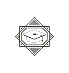 Isolated graduation cap of school concept design vector