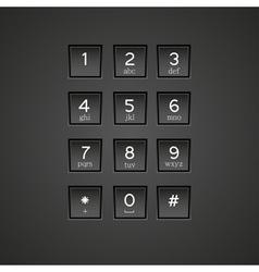 Keypad vector
