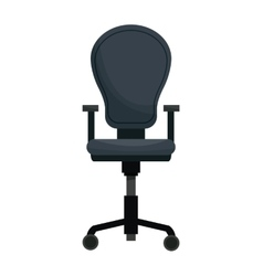 Office chair equipment wheel style vector