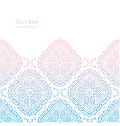 Ornate light background with copy space vector