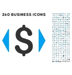 Regulate Price Icon with Flat Set vector image