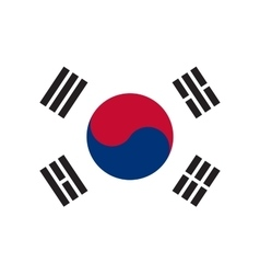 South Korea flag in correct proportions and colors vector image