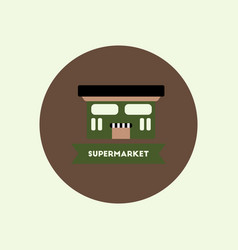 Stylish icon in color circle building supermarket vector