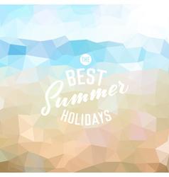Summer holidays background vector image