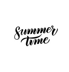 summer time handwritten calligraphy vector image
