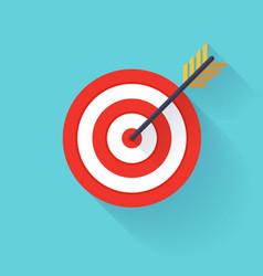 Target bullseye or arrow on target flat icon flat vector