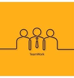 Teamwork business concept design background vector
