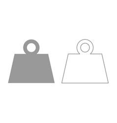 weight icon grey set vector image vector image