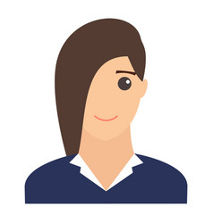 woman smiling portrait modern avatar flat design vector image