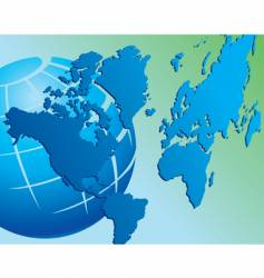 world map globe vector image vector image