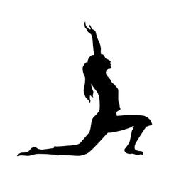 Yoga silhouette black vector image