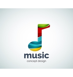 Music note logo template vector