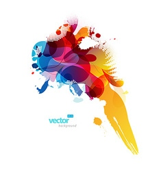 Abstract colorful splash vector