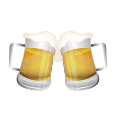 Fresh beer drink icon vector