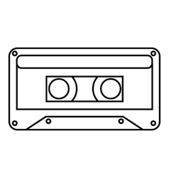 Audio cassette icon outline style vector