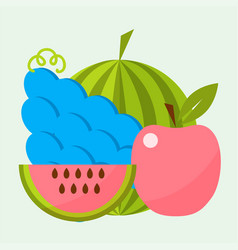 Apple background textile vector