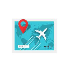 Air delivery service concept flat cartoon plane vector