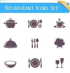 Restaurant icons collection vector