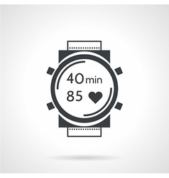 Sport watch black icon vector