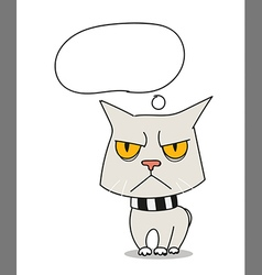 Cool sad cat vector