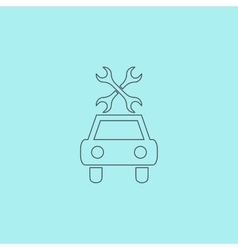 Car service icon vector