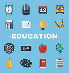 Education objects icons set vector