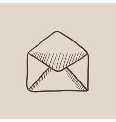Envelope sketch icon vector