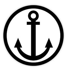 Anchor button on white vector