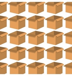 box carton pattern background vector image