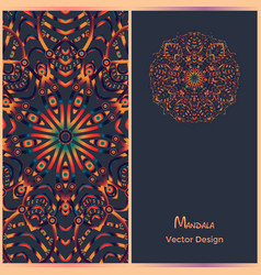 Brochure templates with ethnic pattern business vector
