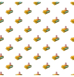Chemical plant pattern cartoon style vector