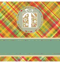Christmas tartan background EPS 8 vector image vector image
