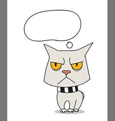 Cool sad cat vector