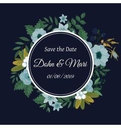 Cute wedding invitation template vector