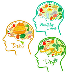 Good diets icons vector