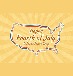 happy fourth of july greeting card for vector image