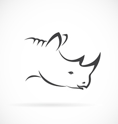 Image of rhino head on white background vector