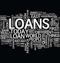 Loans until the next paycheck text background vector